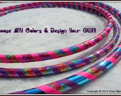 Money-Saving 3-PACK. Custom Designer 'Happy Hippie Sparkle'  Hula Hoop & Mini Twins Set. AnY TuBinGs!  You Choose Colors and Size.