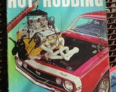 Popular Hot Rodding, April 1967, vintage magazine, old street rods, dragsters, hot rods, gas station mancave decor, bench racer