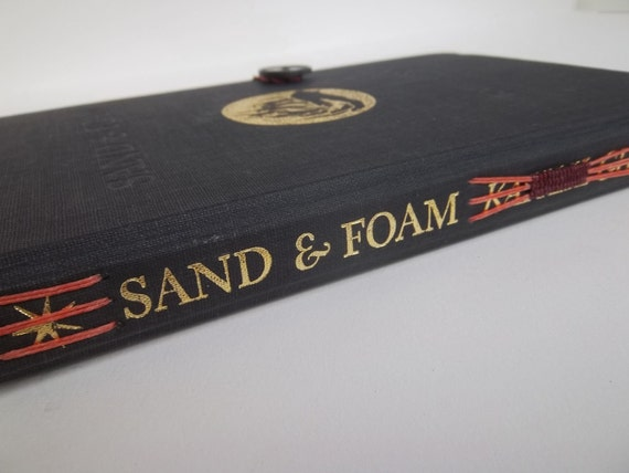 sand and foam upcycled hardcover journal, 100% cotton-rag paper