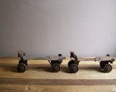 Vintage Rusted Rollerskates Industrial Decor Nostalgia