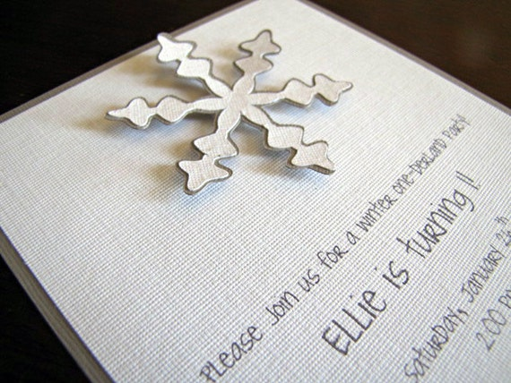 winter wonderland party invitations snowflake invitation, party invitations