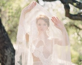 Dotted Wedding Veil, Dotted Veil, Polka dot Veil, Bridal Veil, Lace Wedding Veil, Blusher Veil - Allure