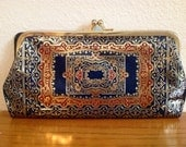 Stunning Vintage Leather Coin Purse Clutch Wallet Made in Italy