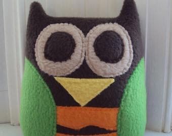 Woodland Owl Pillow/Toy - Stuffed Owl for boys