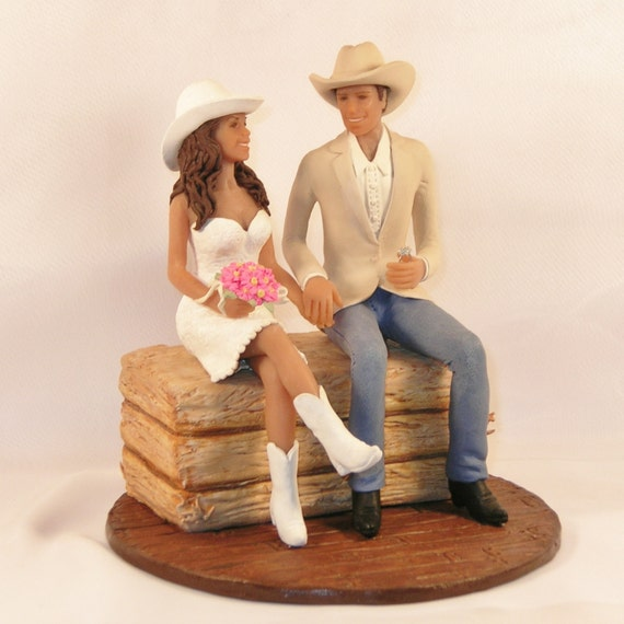 Cowboy Cowgirl Wedding Ideas: Items Similar To Country/Western Wedding Cake Topper With