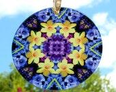 Suncatcher Daffodil Mandala Boho Chic New Age Sacred Geometry Hippie Kaleidoscope Unique Gift For Her Mod Flower Lover Sentimental Spring