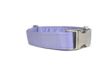 Satin Wedding Dog Collar - Lilac
