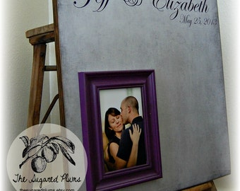 Wedding Guest Book Alternative, Wedding Guest book, Wedding Guestbook,  Unique Wedding Guest Book, 20x20 The Sugared Plums Frames