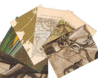 One-of-a-Kind Collage Paper Pack - Vintage supplies and embellishment for scrapbooking projects - Choose your colour