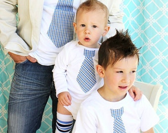 Father's Day Tie 3 Piece Gift Set.  Tie Shirts for Daddy, Son, and Baby Boy.  1st Birthday Outfit. Photo Prop, Coming Home