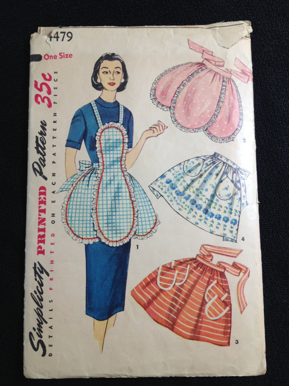 Vintage Pattern Simplicity 4379 Apron by momandpopcultureshop