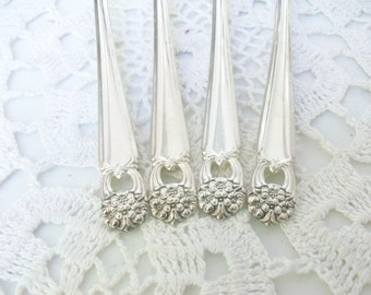 4 Silver Eternally Yours Salad Forks 1941 /