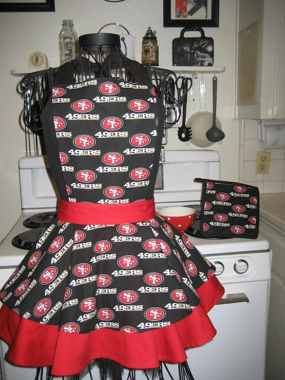 San Francisco  49'ers Ladies Fancy Hostess Apron   Special Order