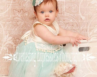 Baby girl hat, first birthday hat, flower girl, Teardrop Hat, Tea Party hat, Photo prop, girls hats