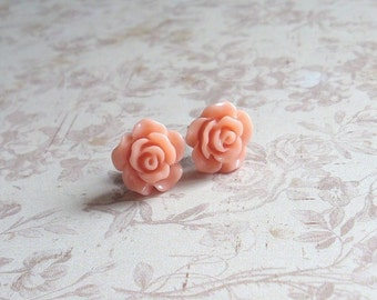 Small Flower Earrings, Surgical stainless steel, Choose your color, One pair (1)
