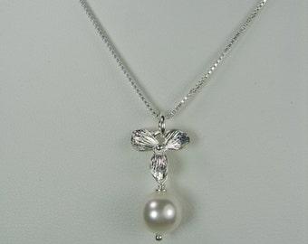Bridesmaid Jewelry, Pearl Necklace, Bridesmaid Gift, Choose Color Pearl Bridesmaid Necklace, Bridal Necklace Bridal Jewelry Wedding Jewelry