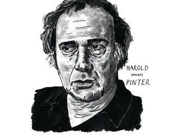 Harold Pinter Poster Print Great Playwright Literary Poster Print