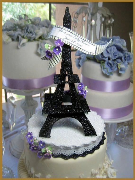 Eiffel Tower Cake Topper