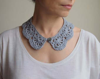 Crochet Pattern, woman  collar , Peter Pan collar, girl crochet lace cowl, vintage lace, DIY photo tutorial Instant download
