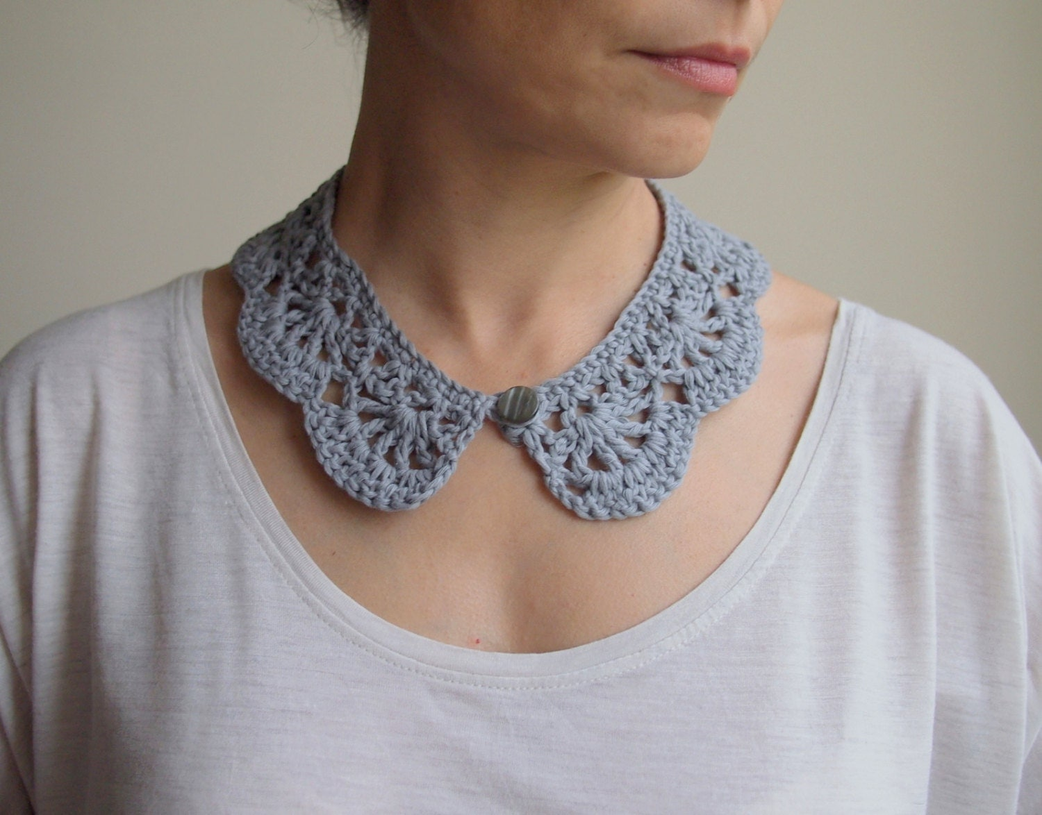 Crochet pattern woman collar peter pan collar girl zoom bankloansurffo Image collections