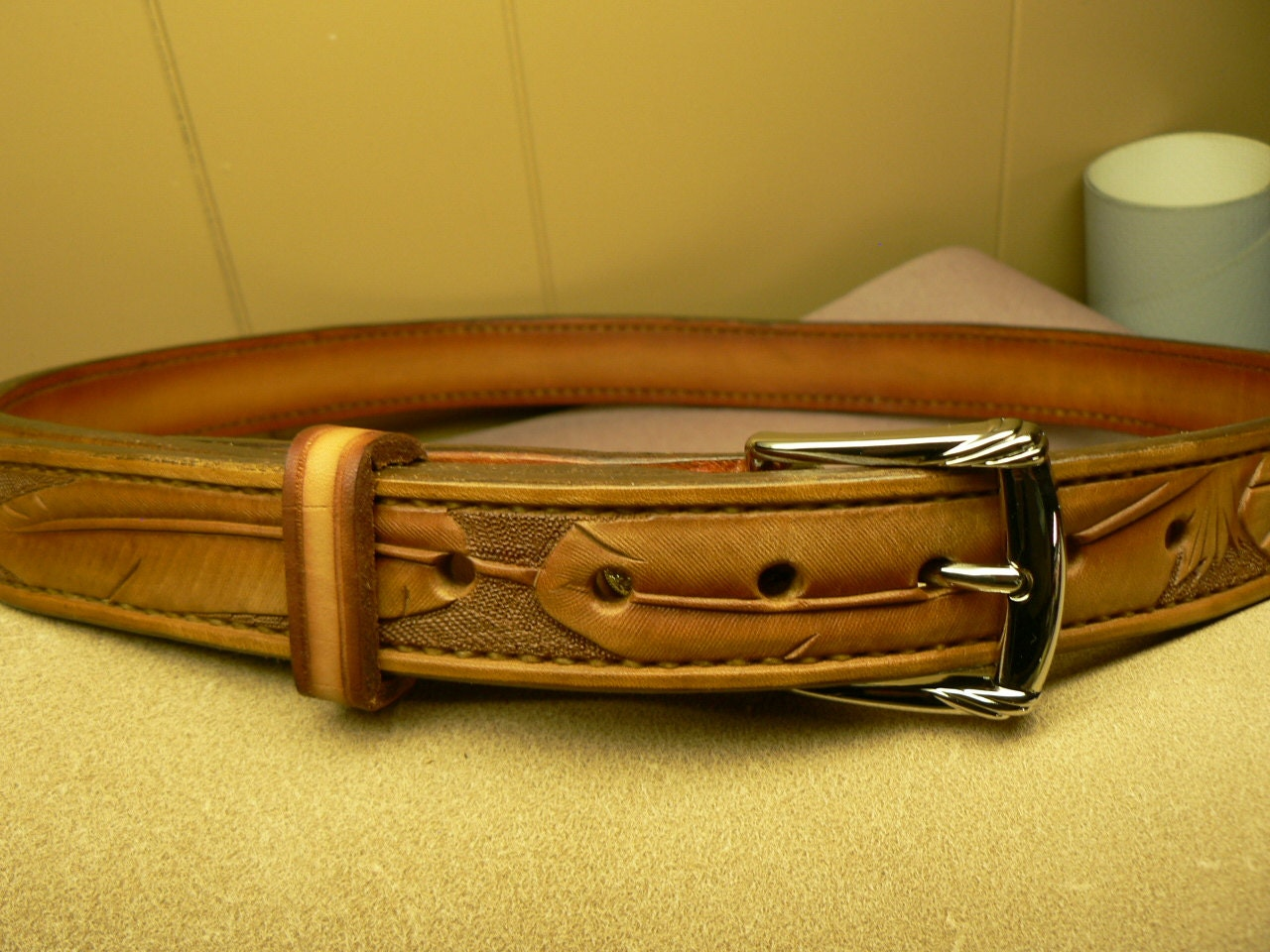 custom leather belt feather belt mens belt womens by
