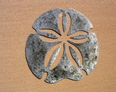 Sand Dollar Art Large Outdoor Metal Wall Art Sculpture Sanddollar Art Outdoor Metal Wall Art Sculpture, 2 sizes