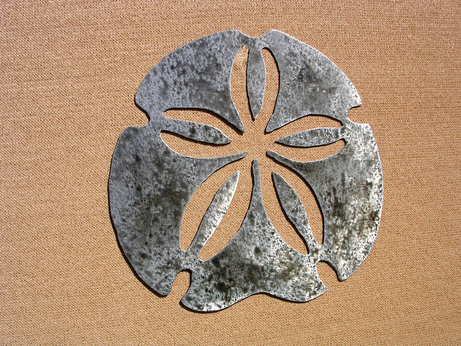 Sand Dollar Art Outdoor Metal Wall Art by