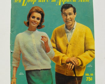 New Loop aire and Alpaca Mist a vintage pattern book from 1964