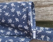 Nursing Cover Up- Navy Blue with small white flowers, Breastfeeding Cover