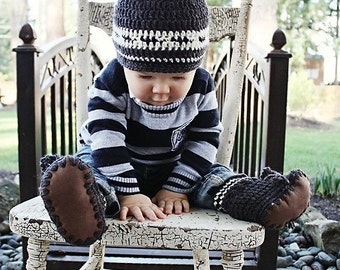 Baby Crochet Hat Pattern: Crochet Toque, First Nations, 'Wee Westcoaster'