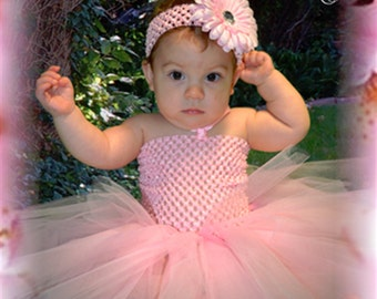 Light Pink Tutu Dress- Baby Girl
