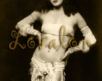 MATURE... 1920's Fashion Plate... Instant Digital Download... Vintage Glamour Photo Image by Lovalon