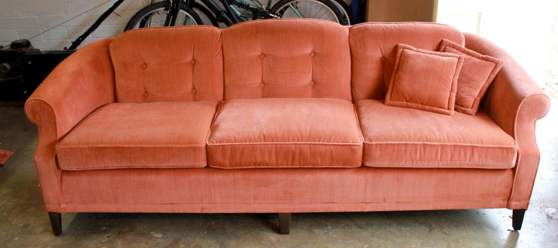 Reserved For Ap 1970s Vintage Ethan Allen Velvet Sofa Couch
