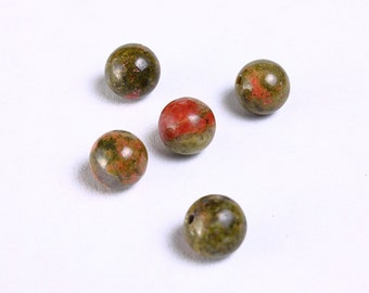 8mm Unakite beads round gemstone beads (936) - Flat rate shipping