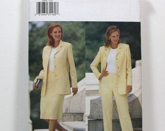 Uncut Sewing Pattern Ladies Wardrobe - Jacket, Skirt, and Pants - Butterick 6468