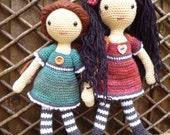 Emily Doll, Amigurumi crochet pattern.