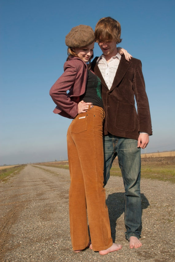 Vintage corduroy pants 1970s Calvin Klein designer high