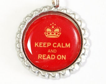 Keep Calm Bookmark, Keep Calm Read On, bookmark, book mark, Shepherd Hook, gift for reader (2479)