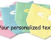 Personalization for Diaper Thank-You Cards - Pastel Diapers - Custom Text Printing on Front