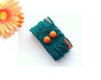 Crochet Bracelet - Cuff - Multi-Strand  Bracelet - Teal Bracelet - Handmade Fashion Jewellery