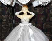 1950s Boudoir Gilbert Creation Lady Bride Table Lamp