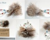 Mini Beaded Loop Feather Dusters