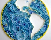 Quiller Earth Flow- Paper Quilled Art - Custom Build - 8 x 10 - aCoCC
