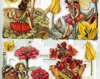 Fairy SCRAP RELIEFS, Garden Fairy, Flower Fairies, Flower Fairy, Fairies Scrap Reliefs, Fairy Scrap Reliefs, Fairy Die Cuts, Fairy, Sheet 10