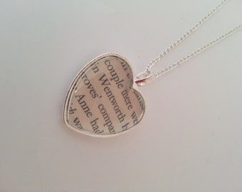 Jane Austen Persuasion Captain Wentworth Heart Necklace