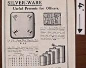 Harrods, 1914, vintage, ad, original, silver, silverware, English, advertisement, free shipping, paper, ephemera