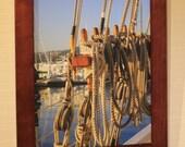 Nautical Ropes Photograph Sailing Print 11x14