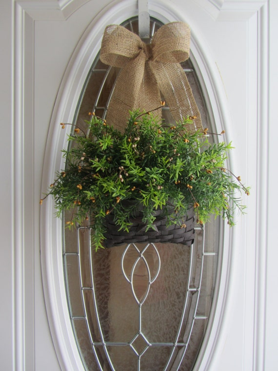 Spring Wreath Faux Greenery Wreath By Doorwreathsbydesign