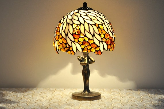 Table Lamp 8 Lampshade Made Of Stained Glass And By