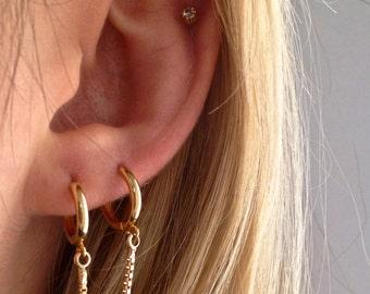 handcuff gold hoop earring